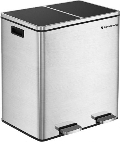 SONGMICS Dual Step Trash Can - Dual Garbage Cans