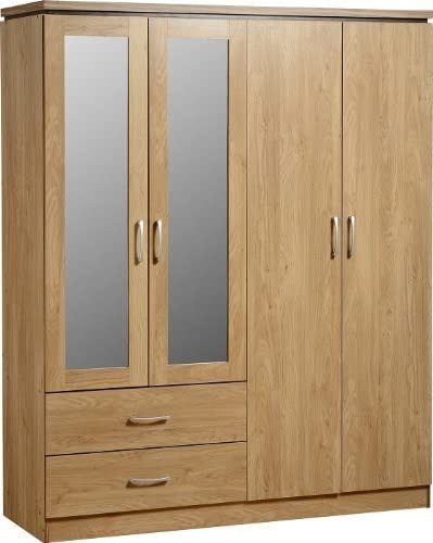 Charlie Reclaimed Wardrobe - Mirrored Wardrobes