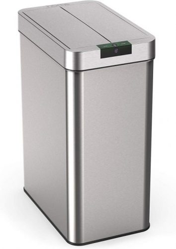 HomeLabs 21 Gallon Touchless Trash Can - Dual Garbage Cans