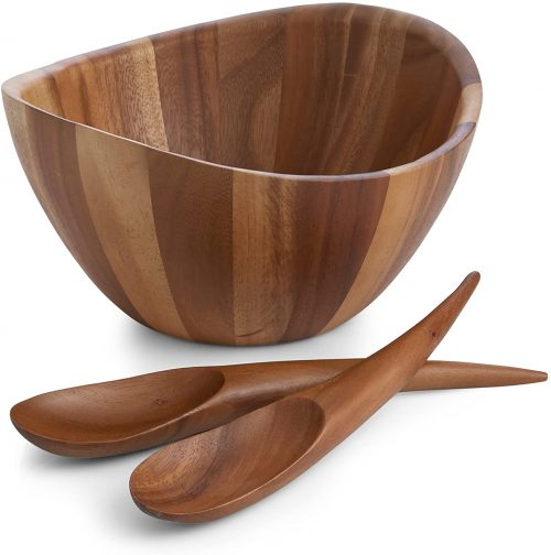 Nambe Gourmet Wooden Salad Set
