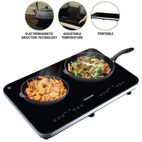 Ovente BG62B Double Portable Ceramic Induction cooktop
