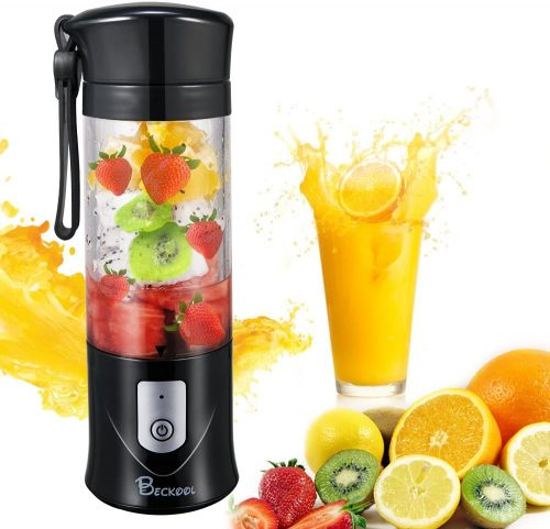 Portable Juicer Blender Beckool Travel Person USB Mixer - Blender for Protein Shakes