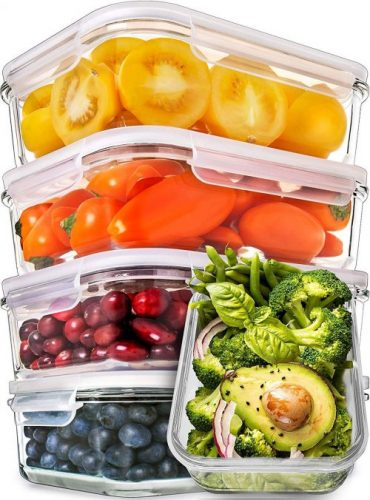 Prep Naturals, Glass Meal Containers
