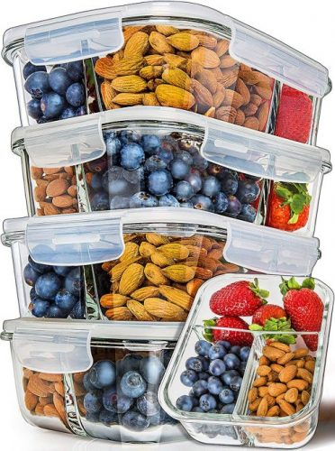 Prep Naturals Three Compartment Containers