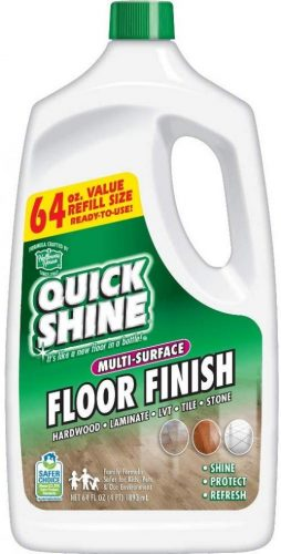 Quick Shine Multi-Surface Floor Finish and Polish - Wood Floor Wax