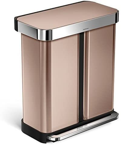 Simplehuman Dual Compartment Recycler in Rose Gold