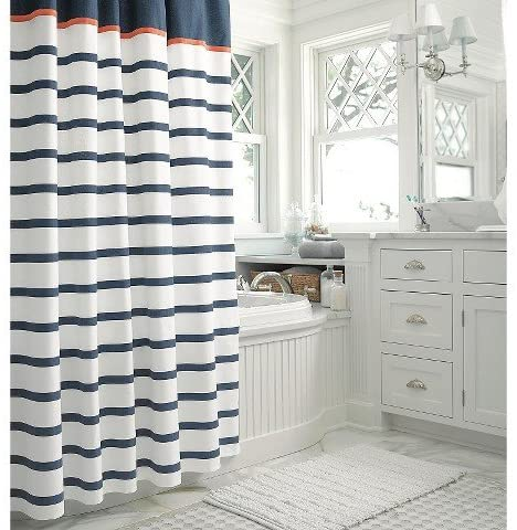 Stripe Shower Curtain by Threshold - Customized Shower Curtains