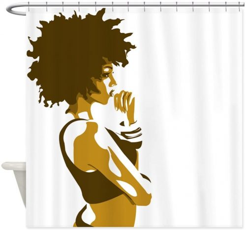 The Thinker Shower Curtain - Funniest Shower Curtains