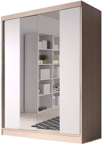 Checo Home and Garden Modern Bedroom Wardrobe - Mirrored Wardrobes