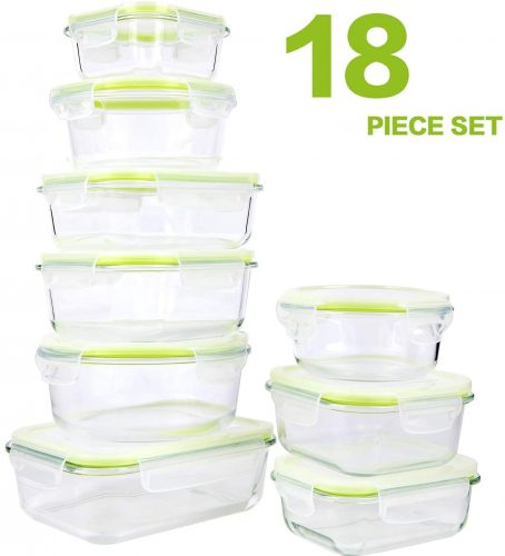 Glasswell 18 Piece Glass Food Storage Containers