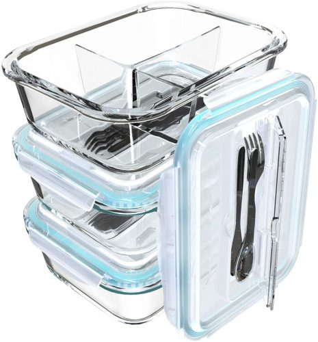 S Salient Glass Meal Prep Containers