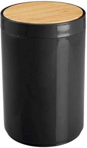 mDesign Small Round Plastic Trash Can