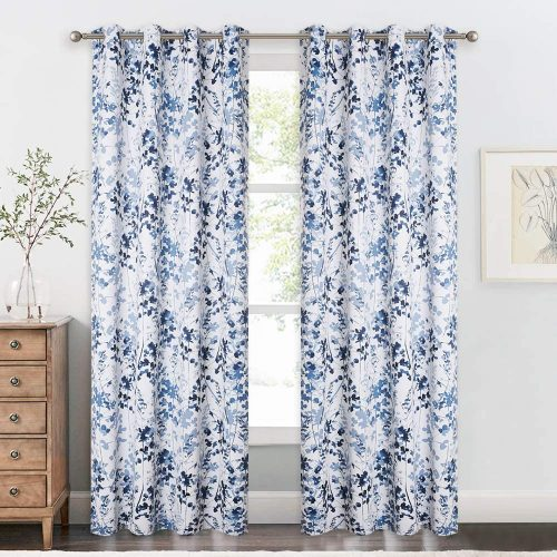 KGORGE Sun Blocking Print Curtains