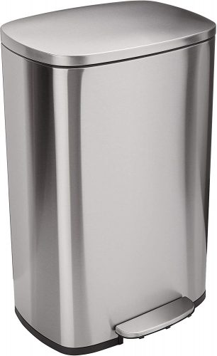 AmazonBasics Stainless Steel Dual Garbage Can
