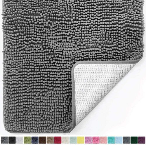 GORILLA GRIP Chenille Bathroom Rug - Super Absorbent and Soft Bathroom Rugs