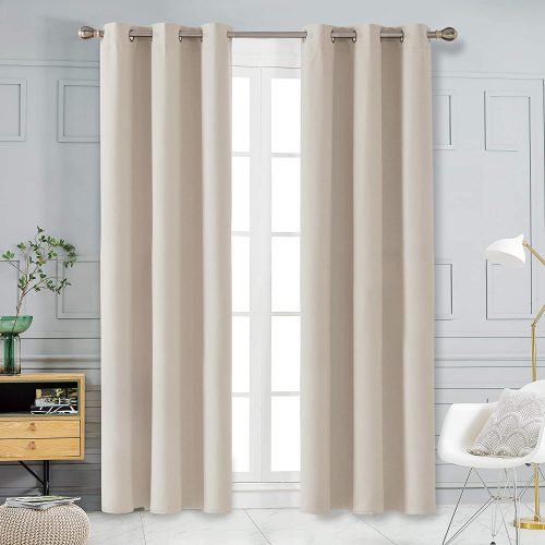 Deconovo Solid Blackout Window Drapes