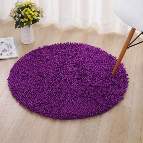 JIZZR Microfiber Chenille Floor Area Rug - Super Absorbent and Soft Bathroom Rugs