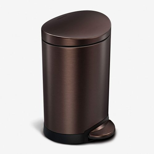 SimpleHuman Round Stainless Steel Dual Garbage Can