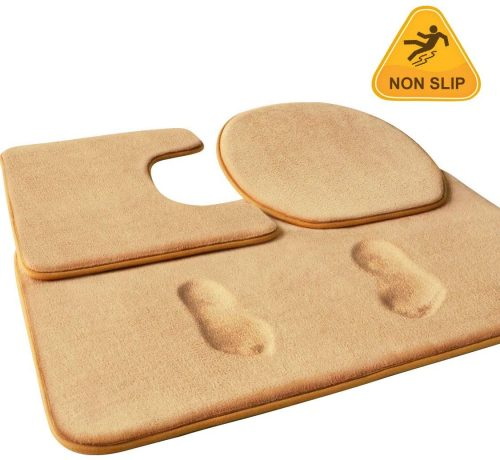 FEELSO Memory Foam Bath Mat Set