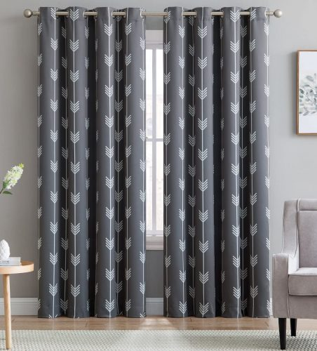 HLC.ME Printed Blackout Room Curtain