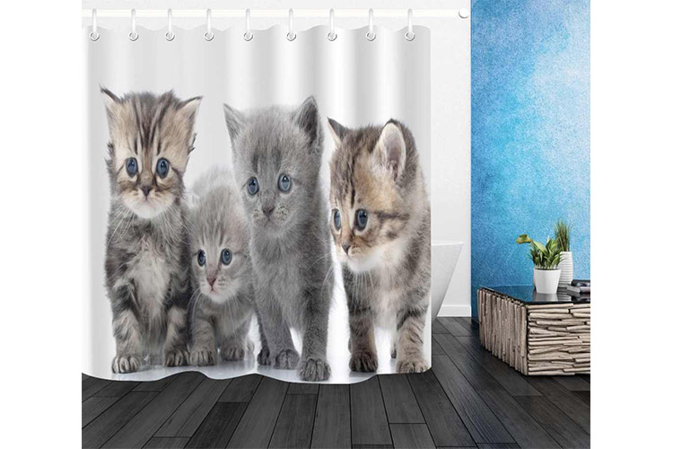 Best Cute Cat Shower Curtains in 2020 | Cutie Vibes in Your Bathroom!