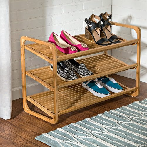 Honey-Can-Do SHO-01599 Bamboo Shoe Shelf