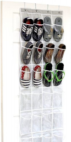 SimpleHouseware Over The Door Shoe Organizer - Over-the-Door Shoe Rack