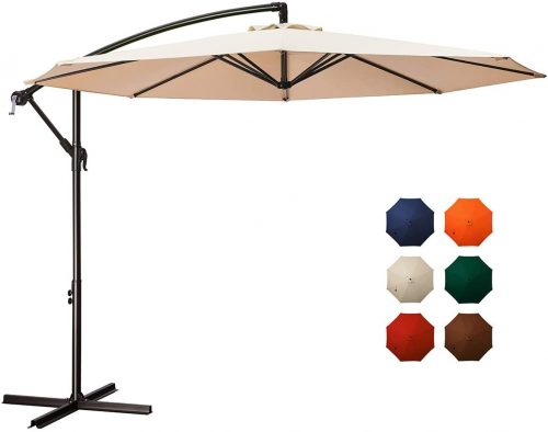 Meway 10 feet Cantilever Pool Umbrella