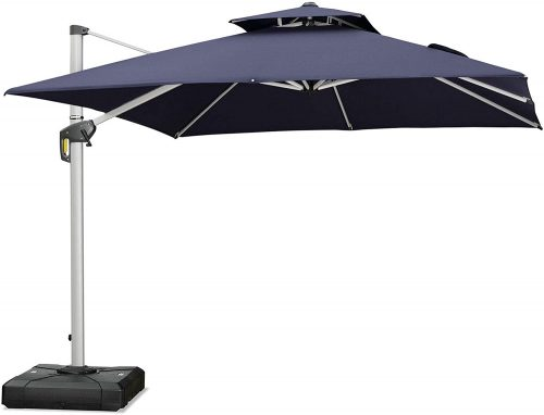 Purple Lead 10 Feet Cantilever Pool Umbrella