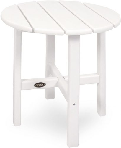 Trex Classic White Outdoor Table - Round Picnic Table