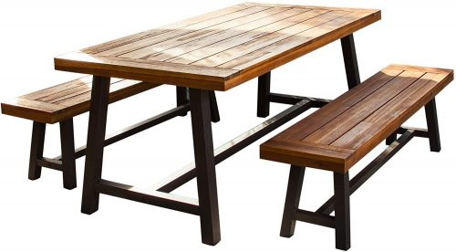 Christopher Knight Home Wood Picnic Table