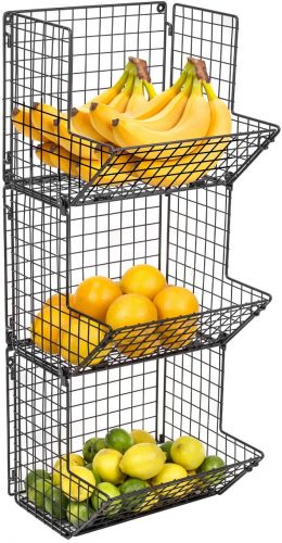 Sorbus 3-Tier Wall MountFruit Stand