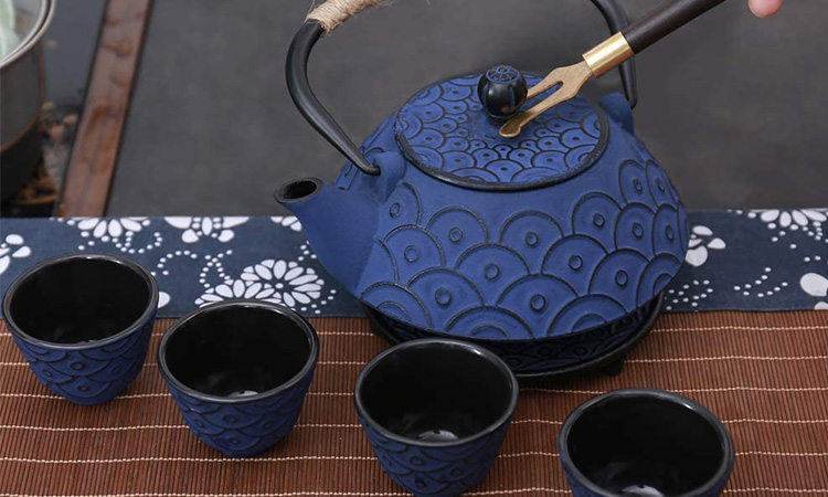 Japanese Style Cast Iron Teapot Set | Ancient Kitchenware