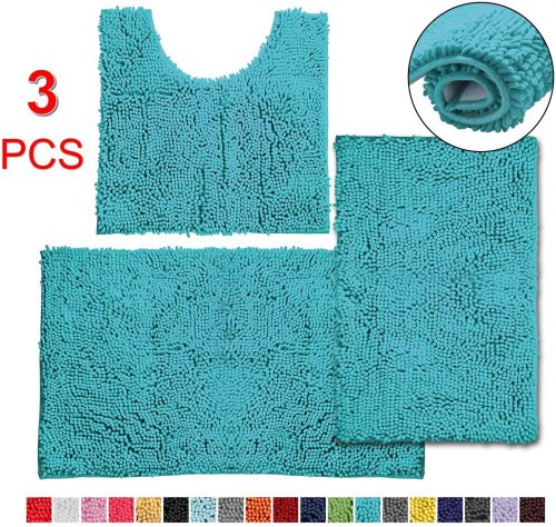 Vagau 3-piece Bath Rug Set