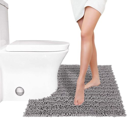 Yimobra Luxury Shaggy Toilet Bath Mat