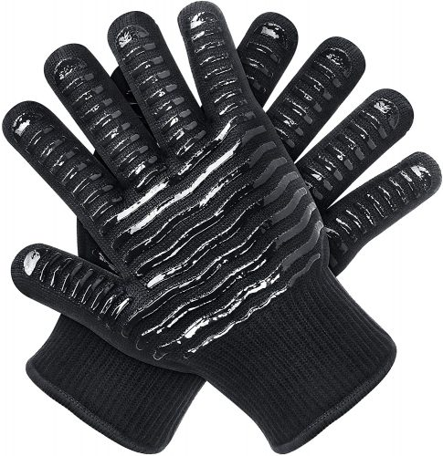 OUUO Oven Mitts Heat Resistant Gloves