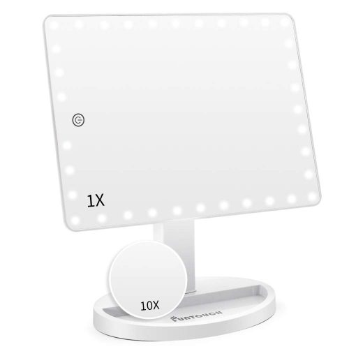 FUN TOUCH Large Lighted Vanity Makeup Mirror - Vanity Mirrors
