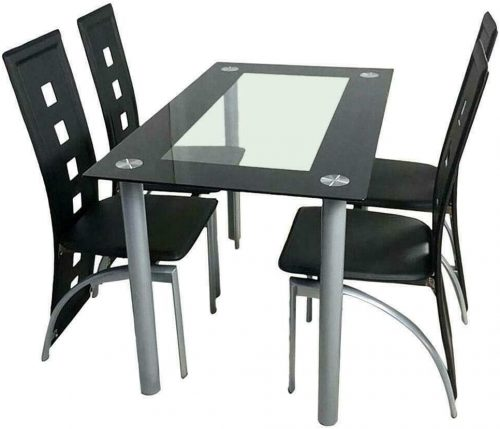TNPSHOP Glass Dining Table