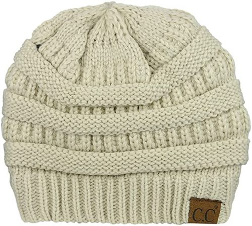 C.C Unisex Chunky Cable Knit Skully Beanie - Beanie Hats for Women