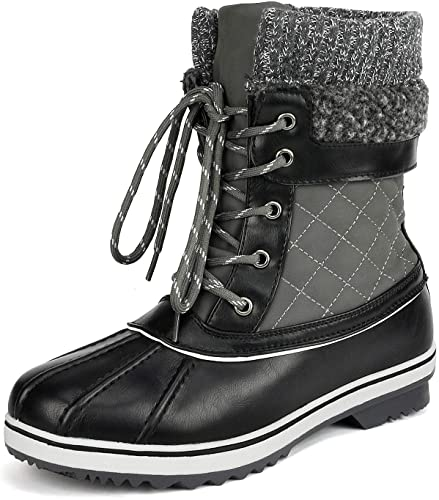 DREAM PAIRS Women's Mid Calf Boots - Winter Boots for Women