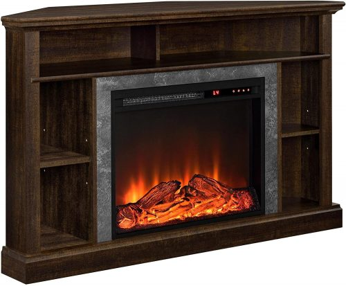 Ameriwood Home Electric Corner Fireplace