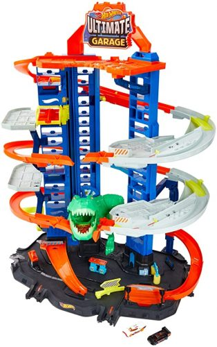 Hot Wheels Robo T-Rex Ultimate Garage Set