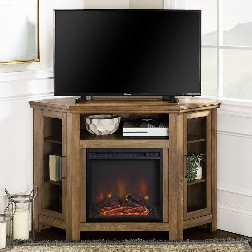 Walker Edison Corner Fireplace Stand