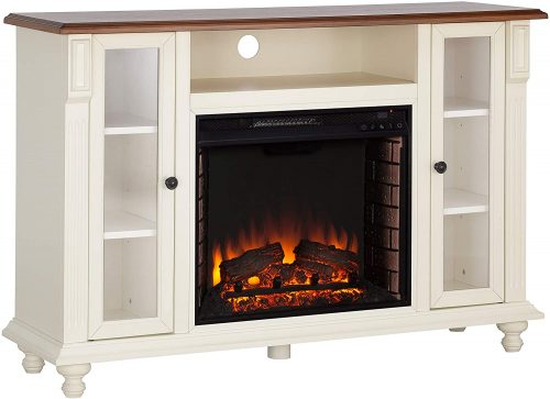 Southern Enterprises Fireplace TV Stand