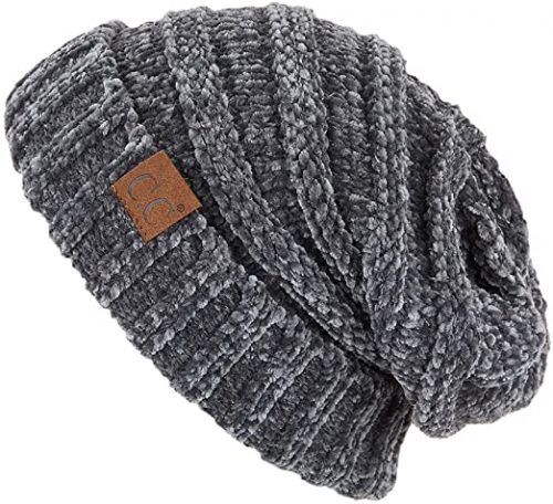 Funky Junque Trendy Oversized Cable Knit Beanie - Beanie Hats for Women