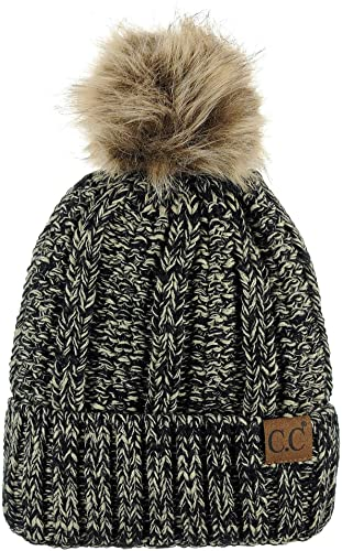 C.C Thick Cable Knit Beanie - Beanie Hats for Women