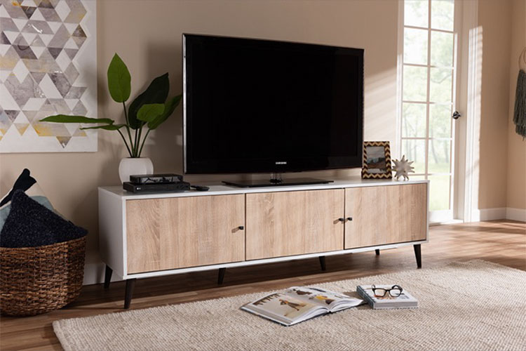 Best Mid-century Modern TV Stands in 2021 | Adjustable & Durable