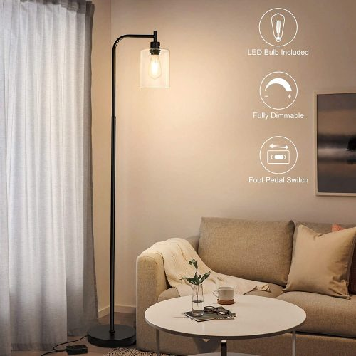 Boncoo Industrial Floor Lamp Fully Dimmable LED Floor Lamp
